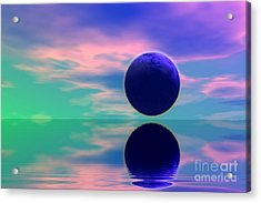 Planet Reflection Acrylic Print by Odon Czintos