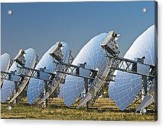 Concentrating Solar Power Plant Acrylic Print by David Nunuk