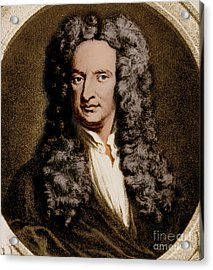 Isaac Newton, English Polymath Acrylic Print by Science Source