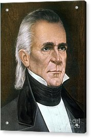 James K. Polk (1795-1849) Acrylic Print by Granger