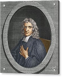 John Flamsteed, English Astronomer Acrylic Print by Science Source