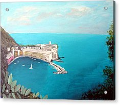 Acrylic Print featuring the painting 5 Lands Italy by Larry Cirigliano