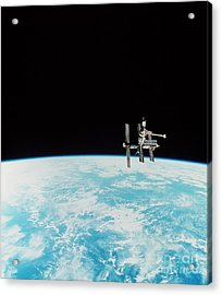 Mir Space Station Acrylic Print by Nasa