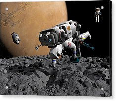 Mission To Mars, Artwork Acrylic Print by Walter Myers