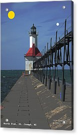 North Pier St Joseph Michigan Acrylic Print