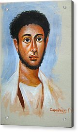 Portrait Acrylic Print by George Siaba