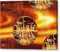 Quantum Computing Acrylic Print by Mehau Kulyk