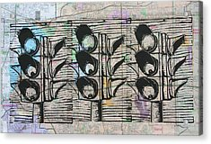 Acrylic Print featuring the drawing Signal by William Cauthern