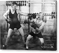 Silent Film Still: Boxing Acrylic Print by Granger
