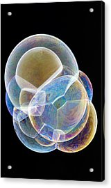 Soap Bubbles Acrylic Print by Lawrence Lawry