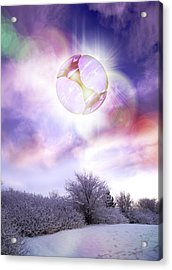 Ufo, Artwork Acrylic Print by Victor Habbick Visions