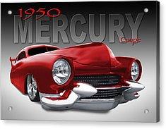50 Mercury Lowrider Acrylic Print by Mike McGlothlen