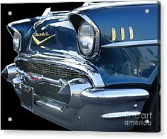 57 Chevy Bel Air Hardtop Front Acrylic Print by Kerry Browne