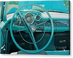 57 Chevy Bel Air Interior 2 Acrylic Print