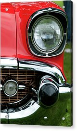 57 Chevy Left Front 8560 Acrylic Print by Guy Whiteley