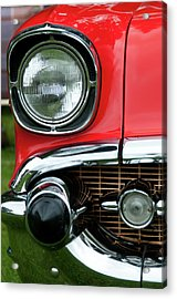 57 Chevy Right Front 8561 Acrylic Print by Guy Whiteley