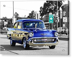 57 Chevy Selective Color Acrylic Print
