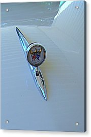 57 Fairlane 500 Emblem Acrylic Print by Nick Kloepping