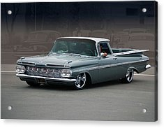 Acrylic Print featuring the photograph 59 El Camino Rod by Bill Dutting