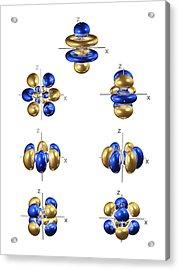 5f Electron Orbitals, General Set Acrylic Print by Dr Mark J. Winter