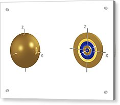 5s Electron Orbital Acrylic Print by Dr Mark J. Winter
