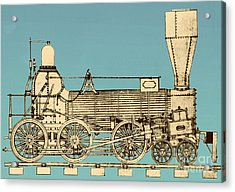 19th Century Locomotive Acrylic Print by Omikron