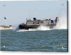 A Landing Craft Air Cushion Prepares Acrylic Print by Stocktrek Images