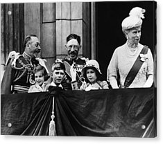 British Royal Family. From Left British Acrylic Print by Everett