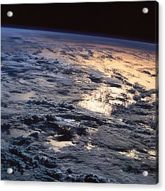 Earth Viewed From A Satellite Acrylic Print by Stockbyte