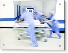 Emergency Hospital Treatment Acrylic Print by