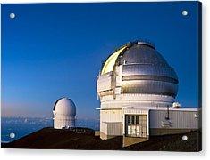 Gemini North Telescope, Hawaii Acrylic Print by David Nunuk