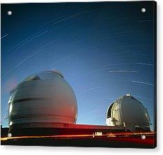 Keck I And II Observatories On Mauna Kea, Hawaii Acrylic Print