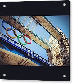 #london2012 #london #olympics Acrylic Print by Nerys Williams