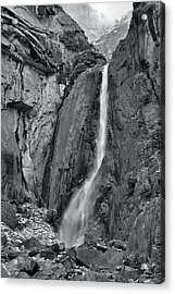 Lower Yosemite Falls Acrylic Print by Stephen  Vecchiotti