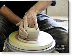 Pottery Wheel, Sequence Acrylic Print by Ted Kinsman