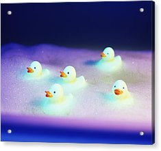 Rubber Ducks Acrylic Print by Lawrence Lawry