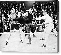 Silent Film Still: Boxing Acrylic Print by Granger