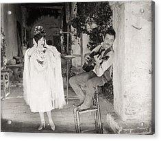 Silent Film Still: Music Acrylic Print by Granger