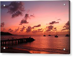 Acrylic Print featuring the photograph Sunset by Catie Canetti