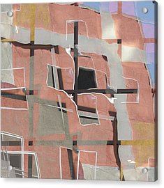 Urban Abstract San Diego Acrylic Print by Carol Leigh