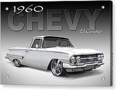 60 Chevy El Camino Acrylic Print by Mike McGlothlen