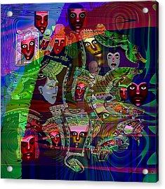 636 People Masks Acrylic Print