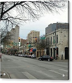 6th Street In Winter Acrylic Print by James Granberry
