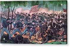 American Civil War, Battle Acrylic Print by Photo Researchers