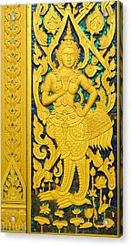 Antique Thai Temple Mural Patterns Acrylic Print by Kanoksak Detboon