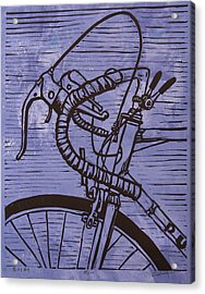 Acrylic Print featuring the drawing Bike 2 by William Cauthern