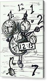 Broken Clocks Acrylic Print