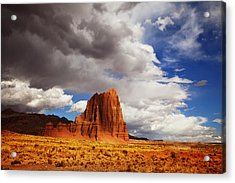 Capitol Reef National Park Catherdal Valley Acrylic Print by Mark Smith