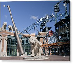 Comerica Park Acrylic Print by Cindy Lindow