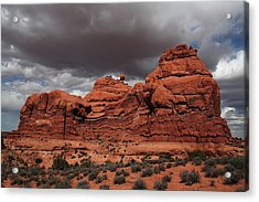 Desert Storm Acrylic Print by Southern Utah  Photography